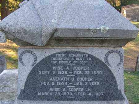 COOPER, JR., WISE A - Sebastian County, Arkansas | WISE A COOPER, JR. - Arkansas Gravestone Photos