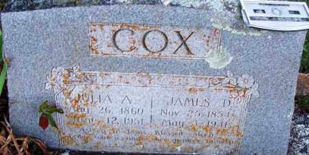 COX, JAMES D - Sebastian County, Arkansas | JAMES D COX - Arkansas Gravestone Photos