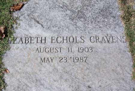 CRAVENS, ELIZABETH - Sebastian County, Arkansas | ELIZABETH CRAVENS - Arkansas Gravestone Photos
