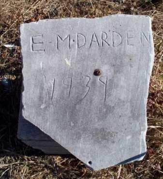 DARDEN, E M - Sebastian County, Arkansas | E M DARDEN - Arkansas Gravestone Photos
