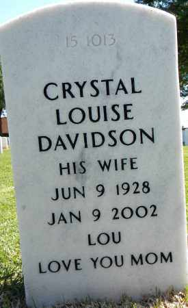 DAVIDSON, CRYSTAL LOUISE - Sebastian County, Arkansas | CRYSTAL LOUISE DAVIDSON - Arkansas Gravestone Photos