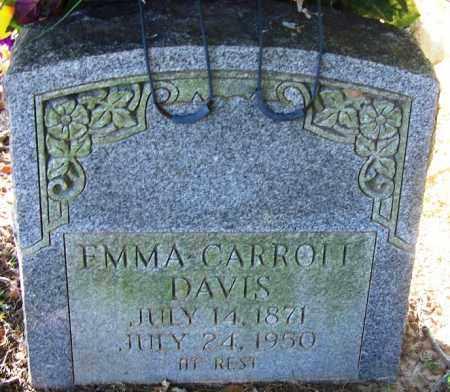 CARROLL DAVIS, EMMA - Sebastian County, Arkansas | EMMA CARROLL DAVIS - Arkansas Gravestone Photos