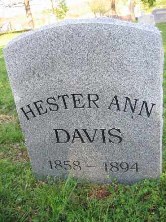 DAVIS, HESTER ANN - Sebastian County, Arkansas | HESTER ANN DAVIS - Arkansas Gravestone Photos
