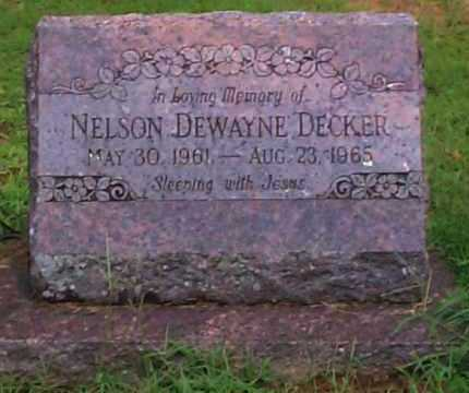 DECKER, NELSON DEWAYNE - Sebastian County, Arkansas | NELSON DEWAYNE DECKER - Arkansas Gravestone Photos