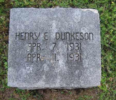 DUNKESON, HENRY E. - Sebastian County, Arkansas | HENRY E. DUNKESON - Arkansas Gravestone Photos