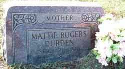 DURDEN, MATTIE - Sebastian County, Arkansas | MATTIE DURDEN - Arkansas Gravestone Photos