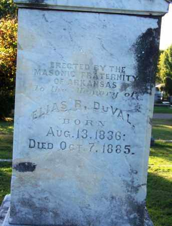 DUVAL, DR. (VETERAN CSA), ELIAS R (CLOSEUP) - Sebastian County, Arkansas | ELIAS R (CLOSEUP) DUVAL, DR. (VETERAN CSA) - Arkansas Gravestone Photos
