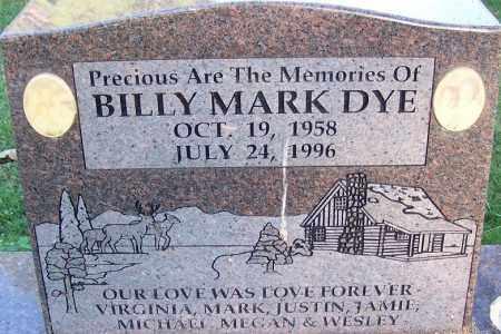 DYE, BILLY MARK - Sebastian County, Arkansas   BILLY MARK DYE - Arkansas Gravestone Photos