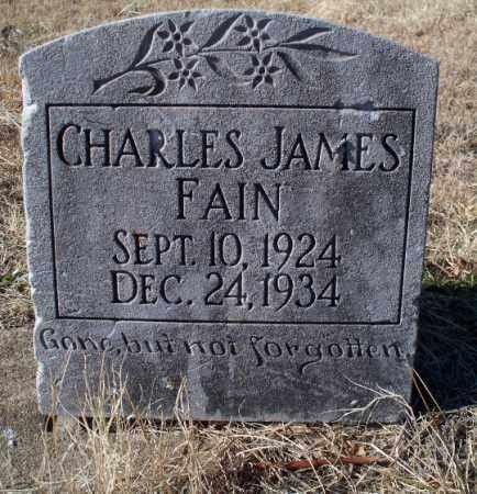 FAIN, CHARLES JAMES - Sebastian County, Arkansas | CHARLES JAMES FAIN - Arkansas Gravestone Photos