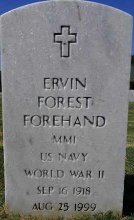 FOREHAND (VETERAN WWII), ERVIN FOREST - Sebastian County, Arkansas | ERVIN FOREST FOREHAND (VETERAN WWII) - Arkansas Gravestone Photos