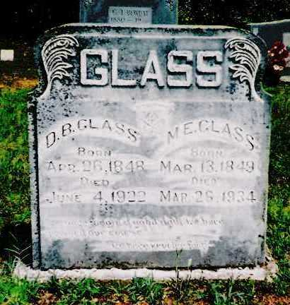 GLASS, D. B. - Sebastian County, Arkansas | D. B. GLASS - Arkansas Gravestone Photos