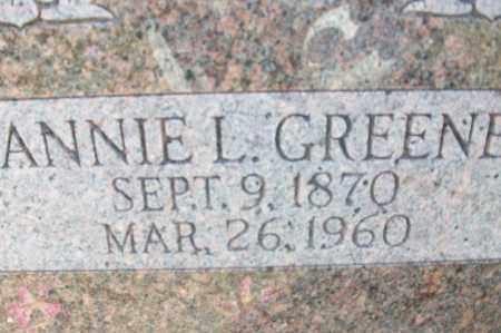 GREENE, ANNIE L. - Sebastian County, Arkansas   ANNIE L. GREENE - Arkansas Gravestone Photos
