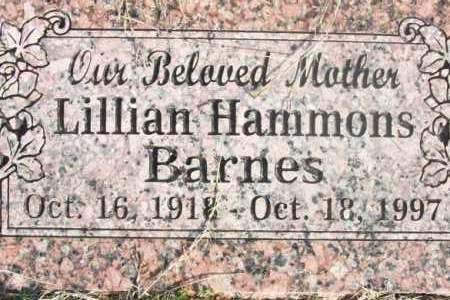 HAMMONS, LILLIAN BARNES - Sebastian County, Arkansas | LILLIAN BARNES HAMMONS - Arkansas Gravestone Photos