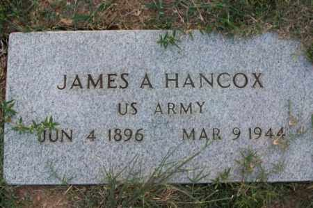 HANCOX  (VETERAN), JAMES A - Sebastian County, Arkansas | JAMES A HANCOX  (VETERAN) - Arkansas Gravestone Photos