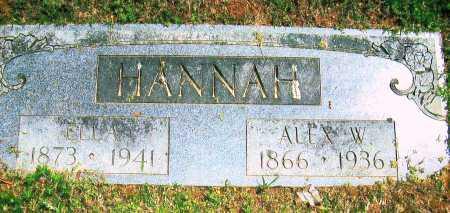 HANNAH, ALEX W - Sebastian County, Arkansas | ALEX W HANNAH - Arkansas Gravestone Photos