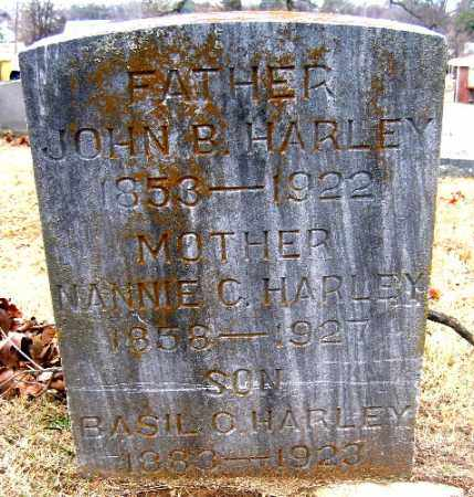 HARLEY, NANNIE C. - Sebastian County, Arkansas | NANNIE C. HARLEY - Arkansas Gravestone Photos