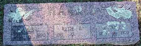 HARRIS, J CRAVEN - Sebastian County, Arkansas | J CRAVEN HARRIS - Arkansas Gravestone Photos