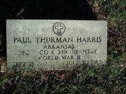 HARRIS (VETERAN WWII), PAUL THURMAN - Sebastian County, Arkansas | PAUL THURMAN HARRIS (VETERAN WWII) - Arkansas Gravestone Photos
