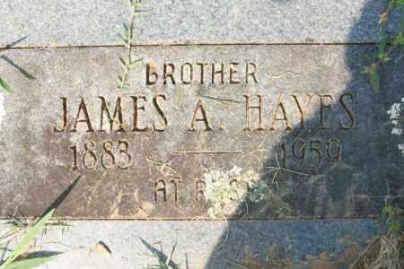 HAYES, JAMES A - Sebastian County, Arkansas | JAMES A HAYES - Arkansas Gravestone Photos