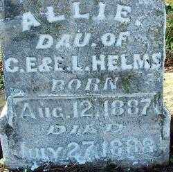 HELMS, ALLIE (2) - Sebastian County, Arkansas | ALLIE (2) HELMS - Arkansas Gravestone Photos