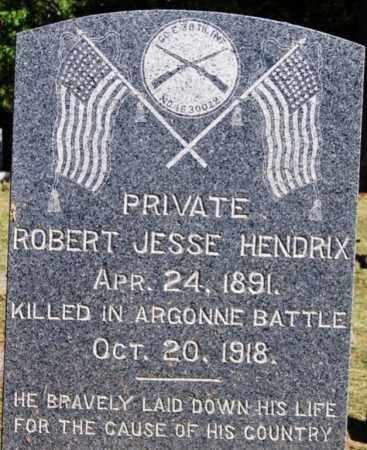 HENDRIX (VETERAN WWI, KIA), ROBERT JESSE - Sebastian County, Arkansas   ROBERT JESSE HENDRIX (VETERAN WWI, KIA) - Arkansas Gravestone Photos
