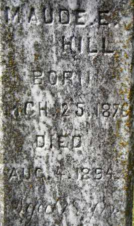 HILL, MAUDE E.  (CLOSE UP) - Sebastian County, Arkansas | MAUDE E.  (CLOSE UP) HILL - Arkansas Gravestone Photos