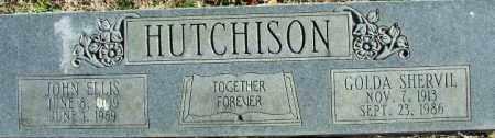 HUTCHISON, JOHN ELLIS - Sebastian County, Arkansas | JOHN ELLIS HUTCHISON - Arkansas Gravestone Photos