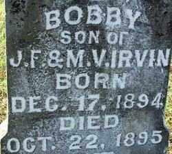 IRVIN, BOBBY (2) - Sebastian County, Arkansas   BOBBY (2) IRVIN - Arkansas Gravestone Photos