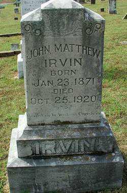 IRVIN, JOHN MATTHEW - Sebastian County, Arkansas | JOHN MATTHEW IRVIN - Arkansas Gravestone Photos