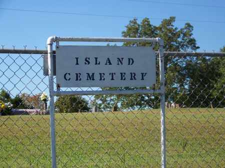 *ISLAND CEMETERY SIGN,  - Sebastian County, Arkansas    *ISLAND CEMETERY SIGN - Arkansas Gravestone Photos
