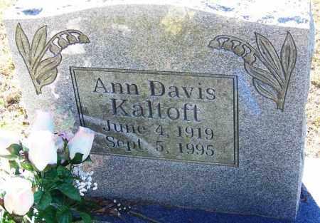 DAVIS KALTOFT, ANN - Sebastian County, Arkansas   ANN DAVIS KALTOFT - Arkansas Gravestone Photos