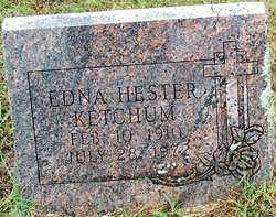 HESTER KETCHUM, EDNA - Sebastian County, Arkansas   EDNA HESTER KETCHUM - Arkansas Gravestone Photos