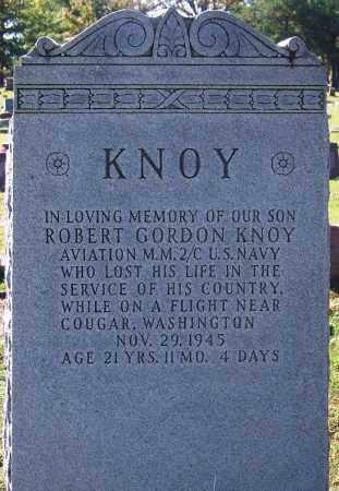 KNOY (VETERAN), ROBERT GORDON - Sebastian County, Arkansas | ROBERT GORDON KNOY (VETERAN) - Arkansas Gravestone Photos