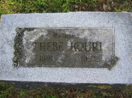KOURI, THEBE - Sebastian County, Arkansas | THEBE KOURI - Arkansas Gravestone Photos