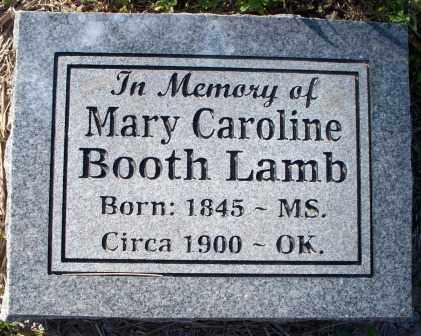 LAMB, MARY CAROLINE - Sebastian County, Arkansas   MARY CAROLINE LAMB - Arkansas Gravestone Photos