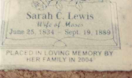 RHODES LEWIS, SARAH CATHERINE - Sebastian County, Arkansas | SARAH CATHERINE RHODES LEWIS - Arkansas Gravestone Photos