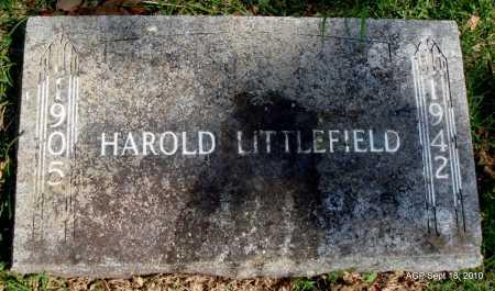 LITTLEFIELD, HAROLD - Sebastian County, Arkansas   HAROLD LITTLEFIELD - Arkansas Gravestone Photos
