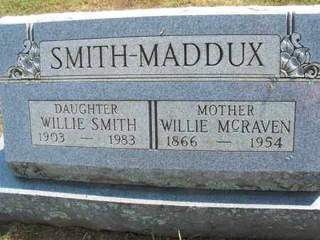 SMITH, WILLIE - Sebastian County, Arkansas | WILLIE SMITH - Arkansas Gravestone Photos