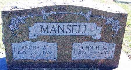 MANSELL, SR., JOHN H - Sebastian County, Arkansas   JOHN H MANSELL, SR. - Arkansas Gravestone Photos