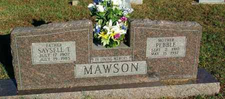 MAWSON, PEBBLE - Sebastian County, Arkansas | PEBBLE MAWSON - Arkansas Gravestone Photos