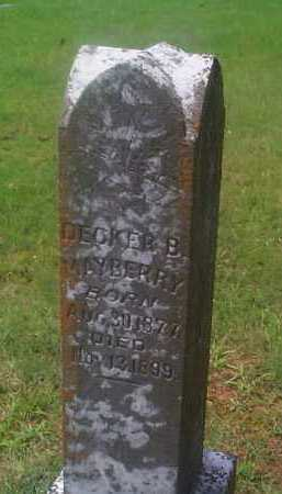 MAYBERRY, DECKER B. - Sebastian County, Arkansas | DECKER B. MAYBERRY - Arkansas Gravestone Photos