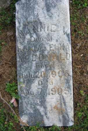 MCDONALD, NANNIE V. - Sebastian County, Arkansas   NANNIE V. MCDONALD - Arkansas Gravestone Photos