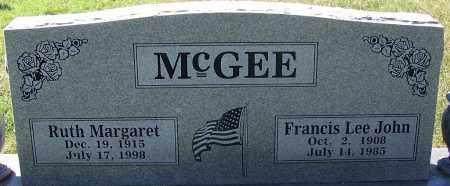 MCGEE, FRANCIS LEE JOHN - Sebastian County, Arkansas | FRANCIS LEE JOHN MCGEE - Arkansas Gravestone Photos