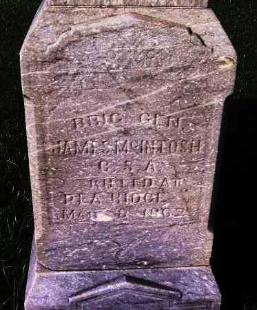 MCINTOSH (VETERAN CSA: FAMOUS), JAMES MCQUEEN - Sebastian County, Arkansas | JAMES MCQUEEN MCINTOSH (VETERAN CSA: FAMOUS) - Arkansas Gravestone Photos