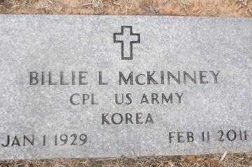 MCKINNEY (VETERAN KOR), BILLIE L - Sebastian County, Arkansas | BILLIE L MCKINNEY (VETERAN KOR) - Arkansas Gravestone Photos