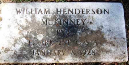 MCKINNEY (VETERAN CSA), WILLIAM HENDERSON - Sebastian County, Arkansas | WILLIAM HENDERSON MCKINNEY (VETERAN CSA) - Arkansas Gravestone Photos