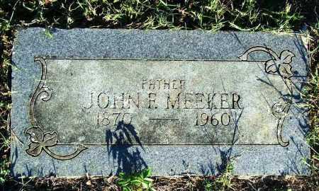 MEEKER, JOHN F. - Sebastian County, Arkansas   JOHN F. MEEKER - Arkansas Gravestone Photos