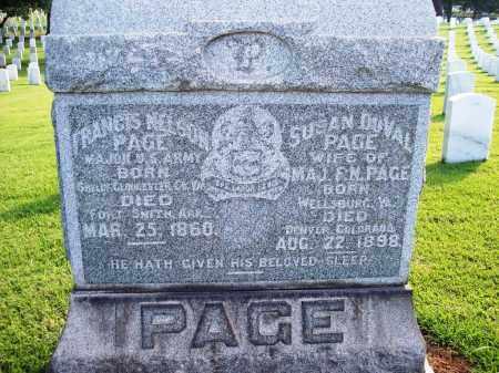 PAGE, SUSAN - Sebastian County, Arkansas | SUSAN PAGE - Arkansas Gravestone Photos