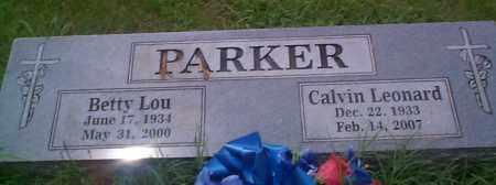 PARKER, CALVIN LEONARD - Sebastian County, Arkansas | CALVIN LEONARD PARKER - Arkansas Gravestone Photos