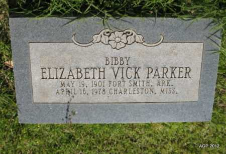"PARKER, ELIZABETH ""BIBBY"" - Sebastian County, Arkansas | ELIZABETH ""BIBBY"" PARKER - Arkansas Gravestone Photos"